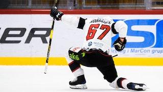 Konstantin Komarek firar efter att ha avgjort matchen i förlängningen.