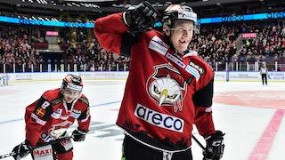 Emil Sylvegård hade anledning att jubla efter Malmös seger mot Mora. Han gjorde två mål och en målgivande passning.