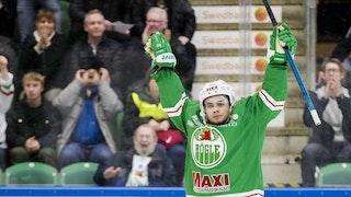 Leon Bristedt jublar - Rögle vann med 5-2 mot Örebro