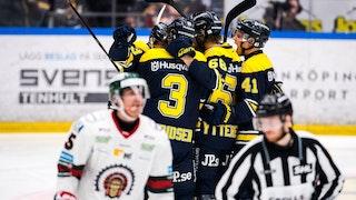 HV71 vann stort mot Frölunda - slutsiffrorna skrevs till slut till 6-1