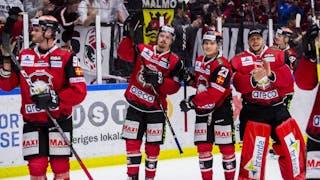 Glada Malmö-spelare firar slutspelsplats inför hemmapubliken