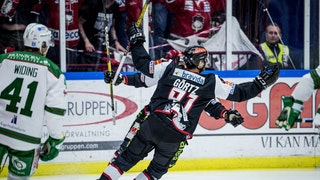 Max Görtz gjorde sin 100:e SHL-poäng när Malmö vann med 3-0 mot Rögle