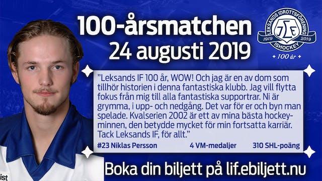 Klar för match: Niklas Persson