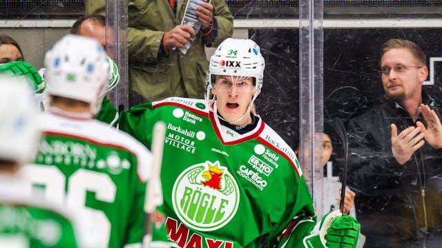 Edström ökade sin produktion när Rögle tog tre poäng