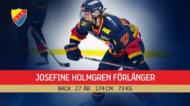 Josefine Holmgren förlänger
