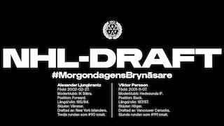 NHL-draft Brynäs IF 2020, Alexnader Ljungkrantz, Viktor Persson