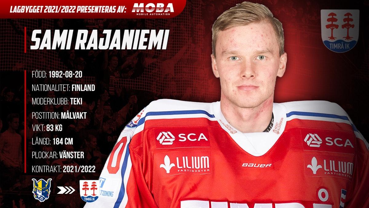 Sami Rajaniemi ansluter till Timrå IK