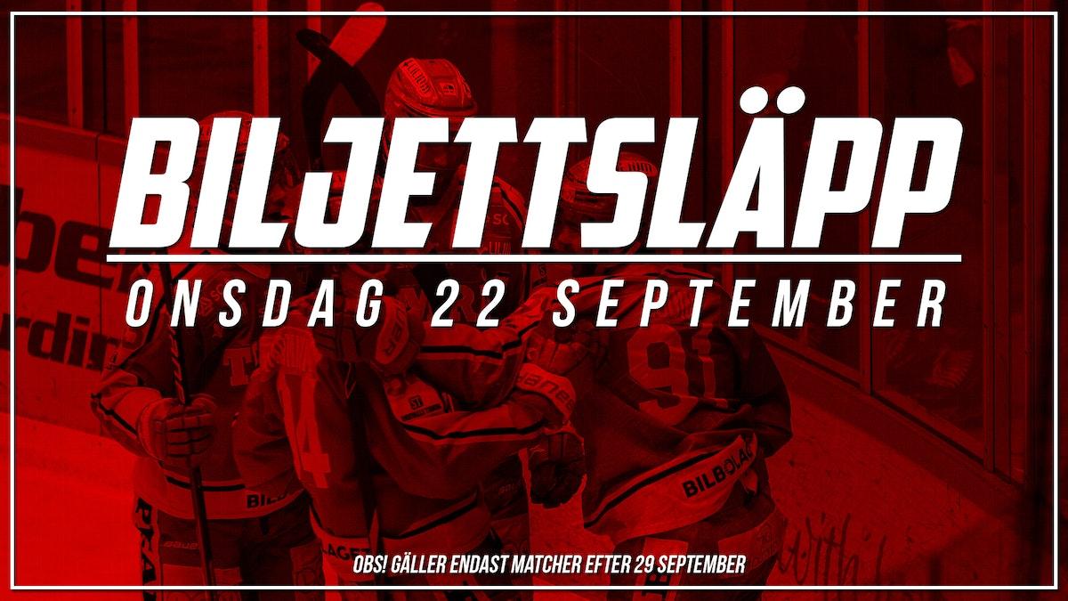 Biljettsläpp för matcherna efter 29 september