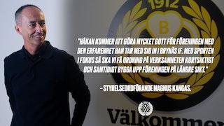 Håkan Svedman, klubbdirektör, Magnus Kangas, ordförande, Brynäs IF