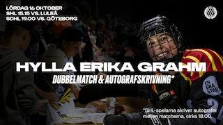 Erika Grahm, Autografskrivning, Brynäs IF, SHL, SDHL